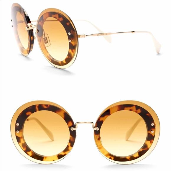 fc08b102cbf5 Miu Miu Accessories | Round 64mm Acetate Frame Sunglasses | Poshmark